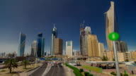 Skyline with Skyscrapers timelapse hyperlapse in Kuwait City downtown. Kuwait City, Middle East video