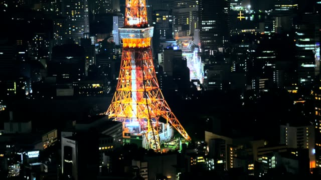 Skyline with the Tokyo tower. video