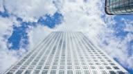Skyscraper and Clouds Timelapse, HD Video video