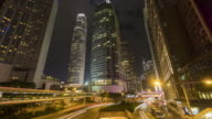 Skyscraper and traffic time lapse video
