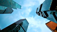 Skyscraper in sky video