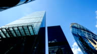 Skyscraper office business building in London, England - time-lapse video