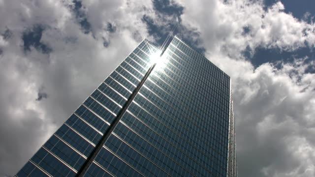 Skyscraper. Timelapse clouds. video