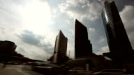 skyscrapers and traffic video
