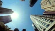 WS LA POV Skyscrapers In Downtown Los Angeles video