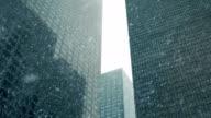 Skyscrapers In Snowstorm video