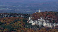 Skytop Tower - Aerial View - New York,  Ulster County,  United States video