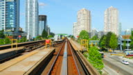 Skytrain Rails, City Condominiums in Background, Vancouver BC video