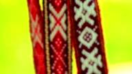 Slavic ornament belts video