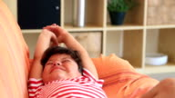 Sleepiness cute boy video