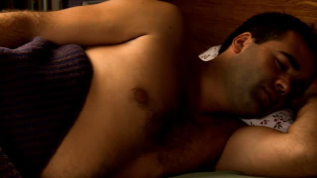 Sleeping hangover man video