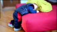Sleepy baby, funny way to sleep video
