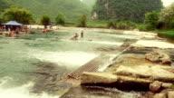 Sleepy Chinese river video