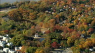 Sleepy Hollow And Mill Pond - Aerial View - New York,  Westchester County,  United States video