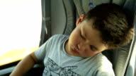 Sleepy young passanger video