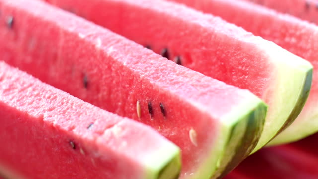 Slices of juicy watermelon video