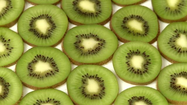 Slices of kiwi fruit video