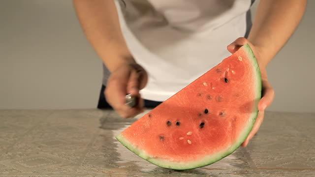 Slices watermelon video