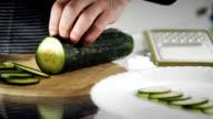 Slicing cucumber video