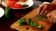 Slicing Green Pepper video