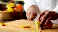 HD Slicing Lemons video