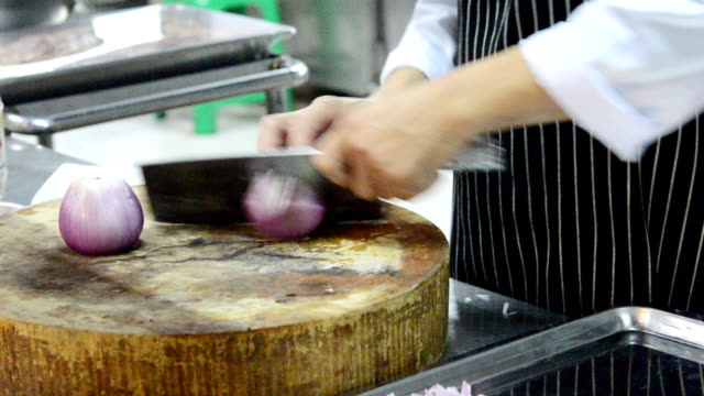 Slicing onion video