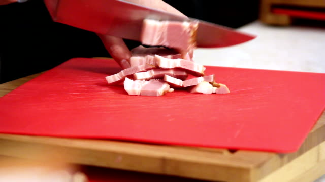 Slicing Pork Bacon video