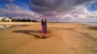 A slide in the shore of Parnu beach video