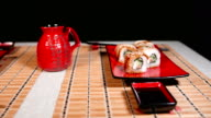 Slide Motion Of Sushi For Two video
