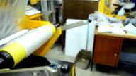 slide view panning: fabricate blown film  by extruder machine video