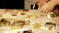 Sliding camera: a process of preparing Christmas gingerbread of different forms video