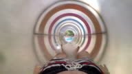 POV: Sliding in a water park video