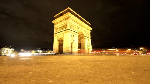 Sliding Time Lapse by the Arc de Triomphe in Paris video