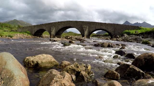Sligachan Bridge, Isle of Skye, Scotland, HD video