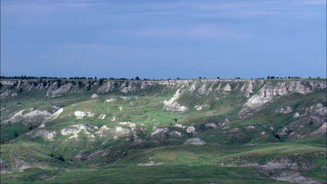 Slim Buttes  - Aerial View - South Dakota,  Harding County,  United States video
