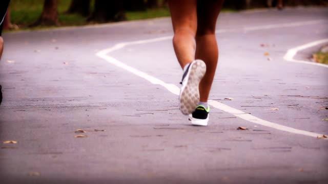 Slo Mo HD:Jogging in the park. video