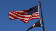 HD SloMo American MIA Flags_LA1 (720/24P) video