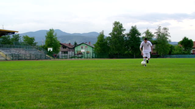HD: Slo-Mo Shot of Soccer Goalie in Defensive action video