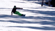 HD: Slo-Mo, Zoom, Two Snowboarders Extreme Carving video