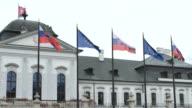 Slovakian and European Flags video