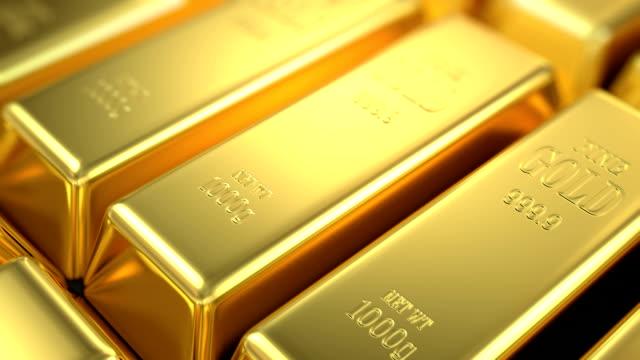 slow flight over gold bars video