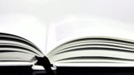 Slow Flipping Through Pages in Book video