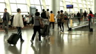 Slow motion airport video
