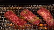 4K Slow motion: Beef BBQ yakiniku video