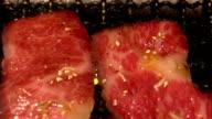 HD Slow motion: Beef BBQ yakiniku video