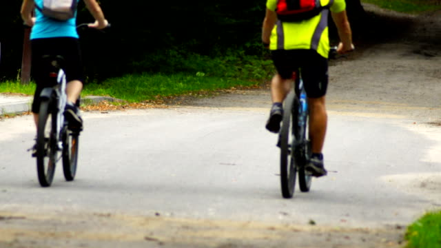 Slow motion: bicycle in the forest video