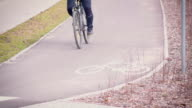 Slow motion: bicycle path video