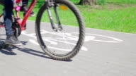 Slow motion: Bike on a cycle route video