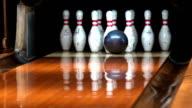 Slow motion - Bowling strike video
