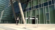 slow motion business hurdler office block video